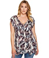 Lucky Brand - Plus Size Palm Leaf Tank Top