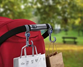 Chicco Ganchos universales para sillas de paseo, especial bolsas, color gris