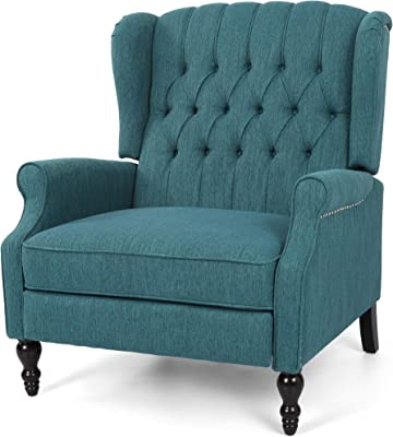 Amazon.com: Maxwell Lillian Tidepool Tufted Blue Upholstered ...