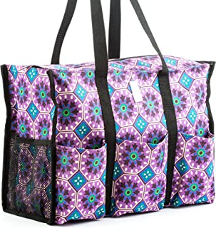 Nursescape Nurse Bag with 13 Exterior & Interior Pockets - Perfect Nursing Tote for Registered Nurses, Nursing Students, Travel Nurses and More (Morocco Tiles)