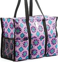 Nursescape Nurse Bag with 13 Exterior & Interior Pockets - Perfect Nursing Tote for Registered Nurses, Nursing Students, Travel Nurses and More (Morocco Tiles)