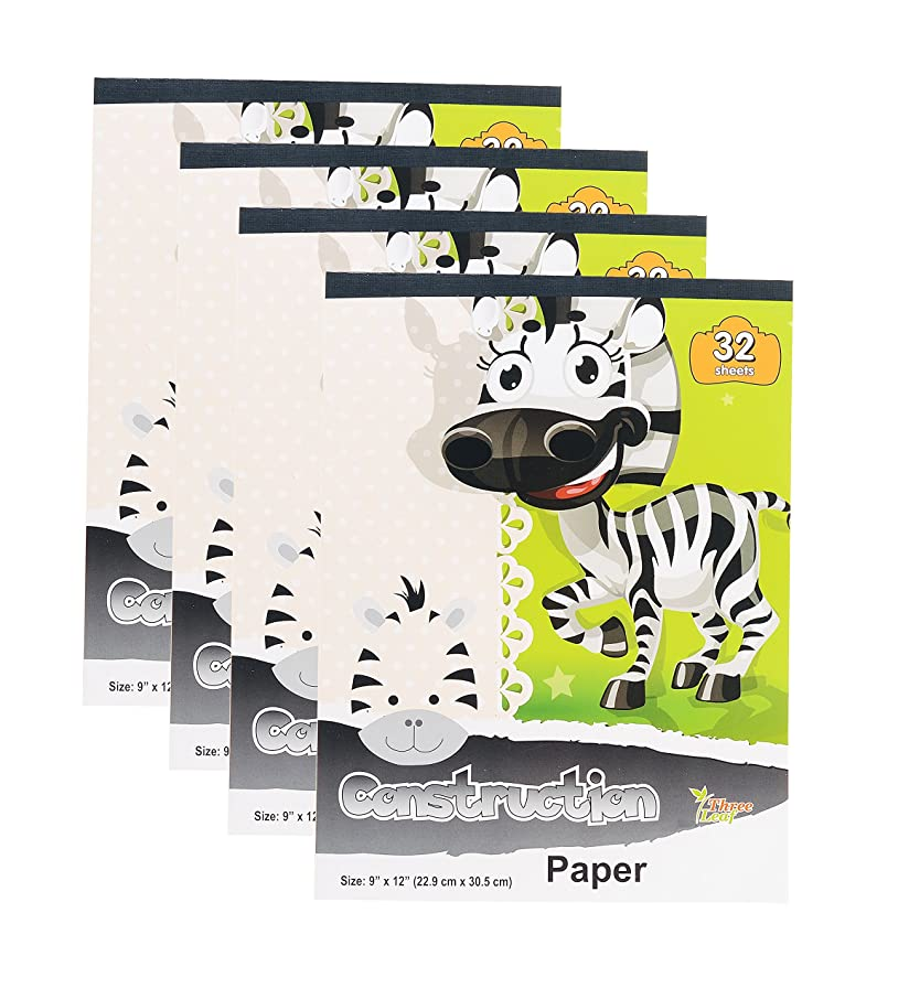 Construction Paper Books, 9x12-Inch, 8 Colors, 32-Sheets per Book from Northland Wholesale. (4-Pack)
