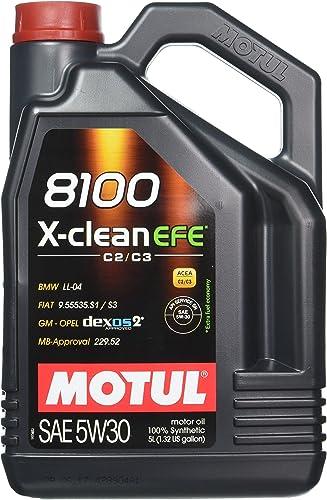 Motul 107206 Huile lubrifiante moteur 8100 X-CLEAN EFE C2/C3 5W30 5 l