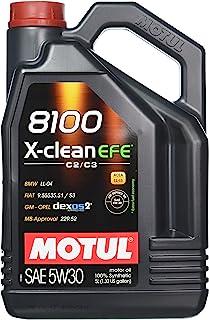 Motul 8100 X-Clean EFE 5W-30 Synthetic oil, 5-Liter, 1 Pack