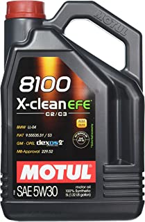 Motul 8100 X-Clean EFE 5W-30 Synthetic oil, 5-Liter, 1 Pack