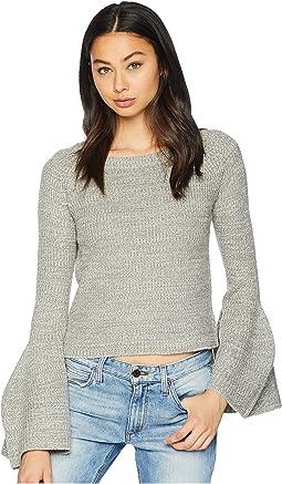 Déjà Vu Raglan Marled Bell Sleeve Sweater