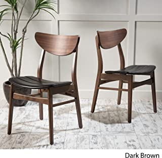 Christopher Knight Home Anise Dining Chair (Set Of 2), Dark Brown