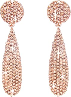 NLCAC Marquise Dangle Earrings Dual Marquise Chandelier Drop Earrings for Women