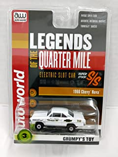Auto World SC319 Legends of the Quarter Mile Grumpy's Toy 1966 Chevy Nova Super Stock HO Scale Electric Slot Car