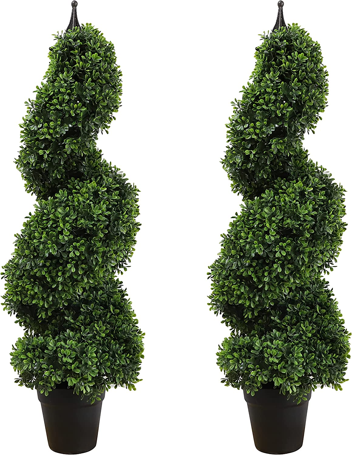 35 inch 2.95 ft Artificial Topiary Limited price sale Outdoor Boxwood Tree T Spiral Low price