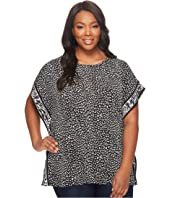 MICHAEL Michael Kors - Plus Size Cheetah Cat Border Top