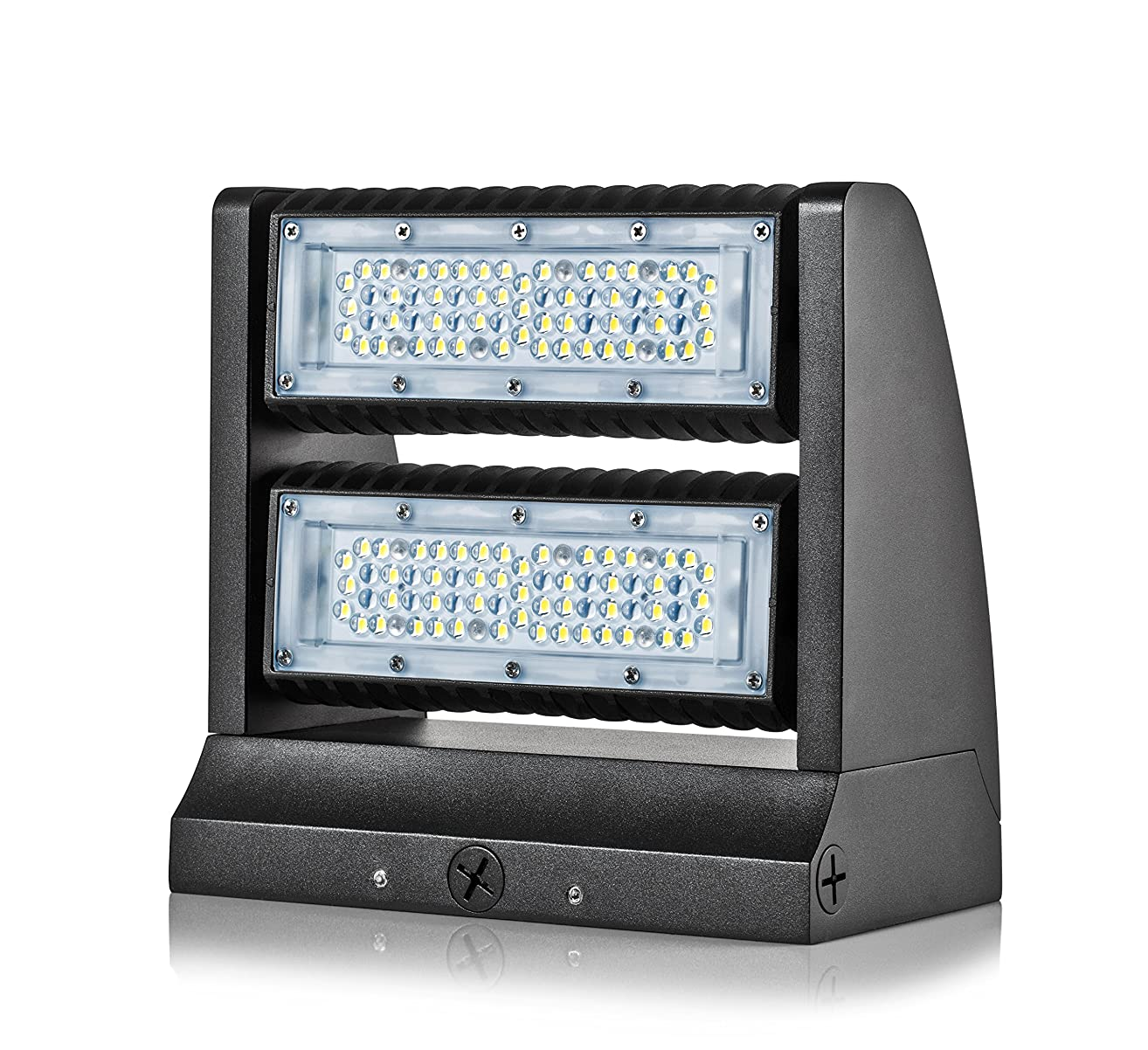 Hyperikon LED Wall Pack Rotatable 80W, 5000K (Crystal White Glow), 10600 lumens, Mounted Base IP65 Outdoor Wall Pack, Waterproof/Dustproof Wall Light - Great for Area Light, Warehouse, Industrial Use