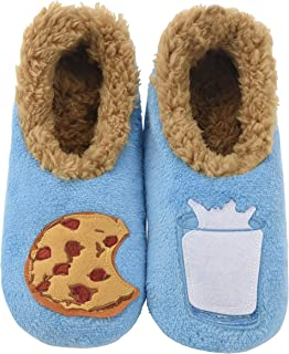 Pairables Womens Slippers - House Slippers - Milk & Cookies