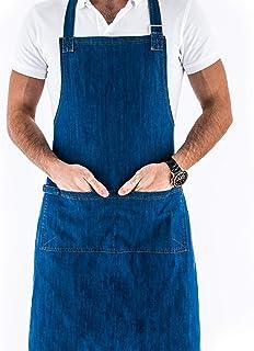6659689d8df Chef Works - Delantal de vaquero unisex, ajustable, vaquero de cocina, ropa  de