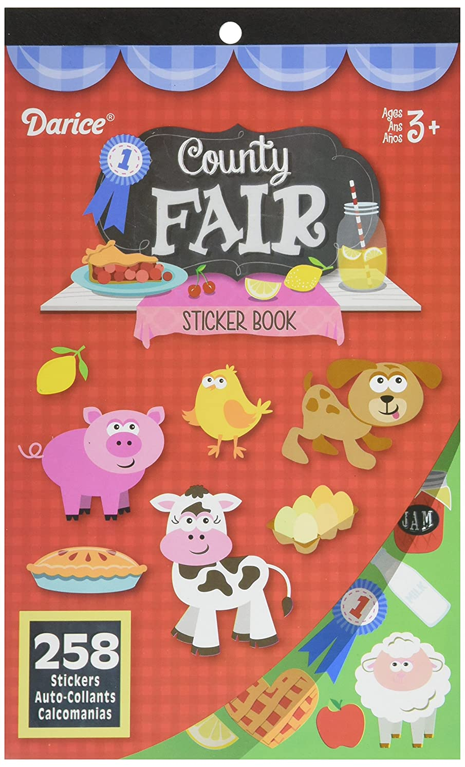 Darice, 258 Stickers, County Fair Sticker Book