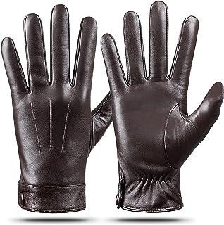 دستکش چرمی اصل مردانه چرم گوسفندی ، صفحه نمایش لمسی گرم ، ارسال دستکش موتور سیکلت رانندگی با کشمیر ، توسط Dsane