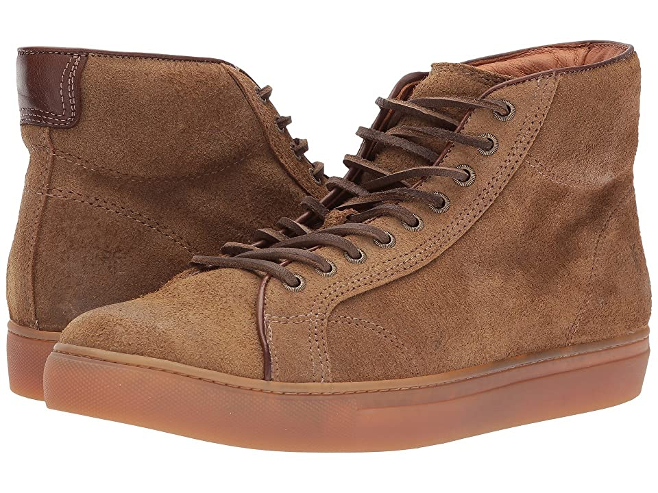 Frye Walker Midlace (Chestnut Waxed Suede) Men's Lace up casual Shoes