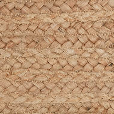 VHC Brands Natural Jute Table Runner, Braided and Textured Farmhouse Accent for Dining Room