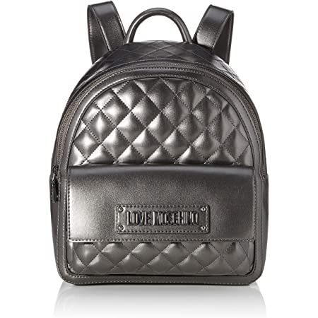 Love Moschino Borsa Quilted Nappa PU, Bolso tipo mochila para Mujer, Negro, 31x12x30 centimeters (W x H x L)
