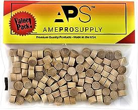 Wood Plugs 3/8 inch | Screw Hole Plugs | Flat Head Wood Plugs | Button Plugs | Screw Plug | Wooden Hole Plugs | Wood Caps | Wood Screw Covers | Wooden Screw Plugs | Buttons Wood Plug (120, 3/8 inch)