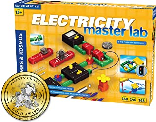 Thames & Kosmos Electricity: Master Lab Science Kit   119 Experiments   Alternating Current, Direct Current, Electrical Engineering, Circuitry, More   Parents' Choice Gold Award Winner