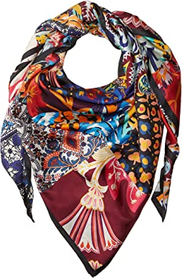Fall Patchwork Square Scarf