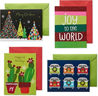 American Greetings Festive and Bright Assorted Christmas Boxed Cards with White Envelopes, 20-Count