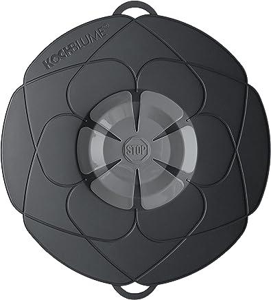 Kochblume Deckel, Silikon, Schwarz 29 cm