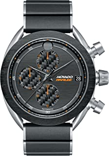 Men's Movado Parlee 0606856 Titanium and Carbon Fiber Case and Link Bracelet