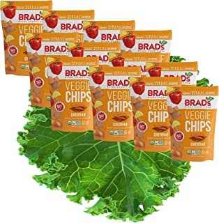 Brad's Plant Based Organic Veggie Chips, Cheddar, 12 Count