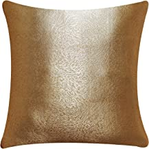 KoTing Golden Cushion Cover Decorative Square Throw Pillow Case Cover 18 X 18 Inch