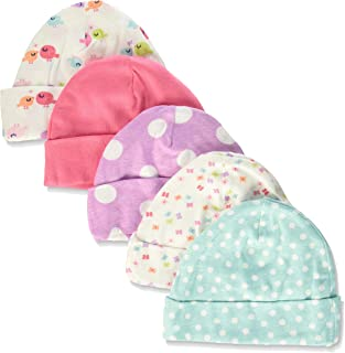Gerber Baby Girls' 5-Pack Caps