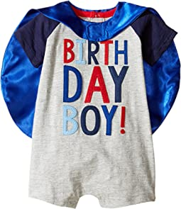 Mud Pie Birthday Boy Cape One-Piece (Infant)