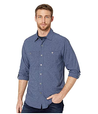 Royal Robbins Long Distance Traveler Long Sleeve Shirt (Deep Blue) Men