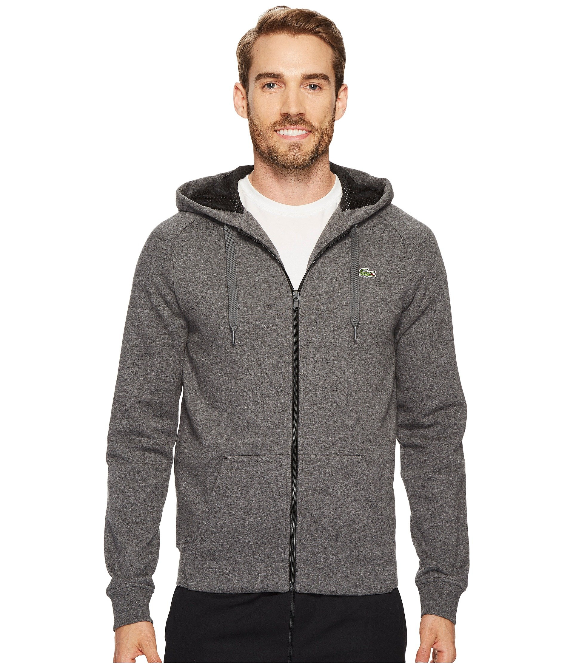 Buzo o Chaqueta Deportiva para Hombre Lacoste Brushed Fleece Full Zip Hoodie Sweatshirt with 3D Print On Hood  + Lacoste en VeoyCompro.net