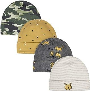 Gerber Baby Boys' 4-Pack Caps