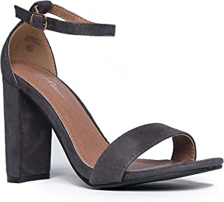 gray heel sandals