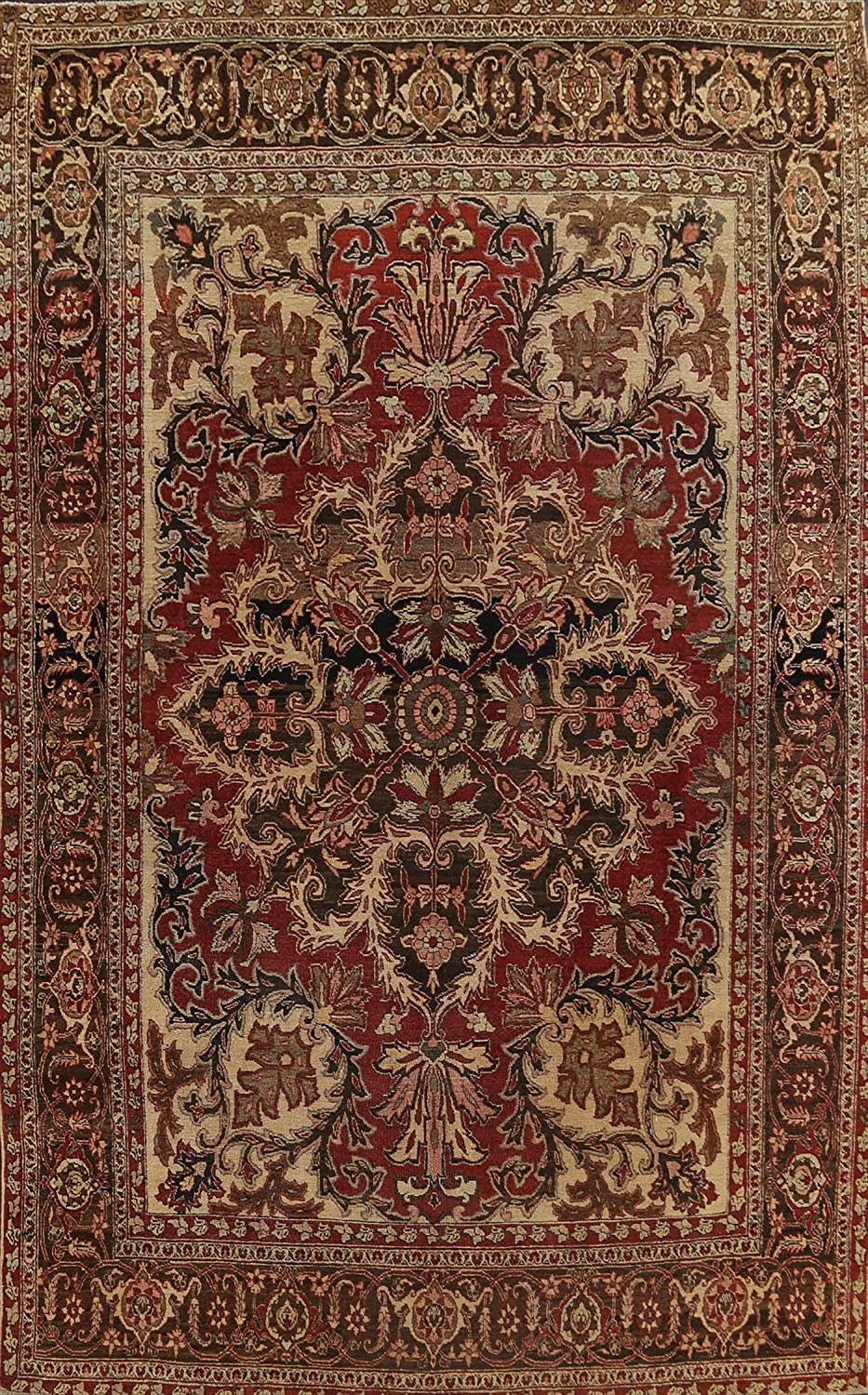 Antique Vegetable Dye Red Floral Rug Area Heriz Free shipping Lowest price challenge New Oriental Serapi
