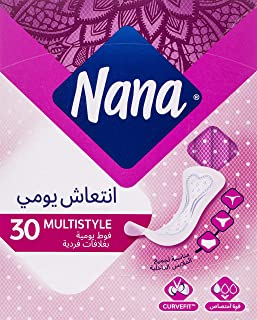 Nana Panty Liners, Normal Multistyle, pack of 30