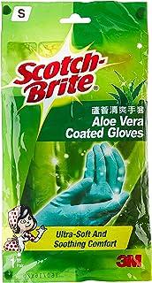 Scotch-Brite Aloe Vera Coated Gloves S, Green
