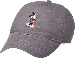 Disney Men's Brush Washed Twill Baseball Cap, Gray Full Mickey, One Size