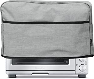 Crutello 6 Slice Toaster Oven Cover with Storage Pockets Compatible with Breville Toasters - Small Appliance Dust Cover Measuring 18.5