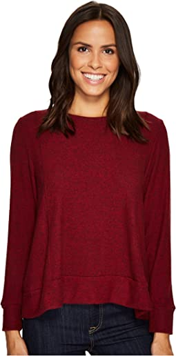 Nally & Millie - Brushed Panel Seam Cuff Sleeve Top