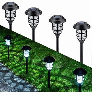 GIGALUMI 8 Pcs Solar Lights Outdoor Pathway, Waterproof Led Solar Lights for Lawn,Patio,Yard,Garden,Path,Walkway or Driveway.