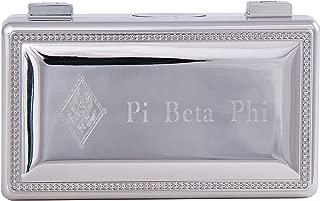 Pi Beta Phi Engraved Pin Box Sorority Greek Decorative Trinket Case Great for Rings, Badges, Jewelry Etc. Pi Phi (Rectangle Pin Box)