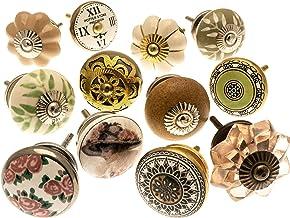 Vintage-Chic verschillende vintage style kastknoppen van keramiek x 12 (MG-137) TM product