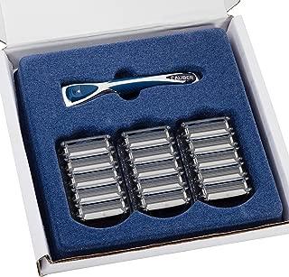 Personna Men's 3 Blade Razor System - Mens Shaving Razors - Razor Handle with 15 Replacement Cartridges