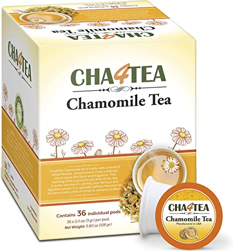 wholesale Cha4Tea sale 36-Count Pure Camomile Herbal Tea Pods for Keurig K-Cup Brewers - Bedtime/Sleep-well/Nightly Calm/Relaxing lowest Tea outlet online sale