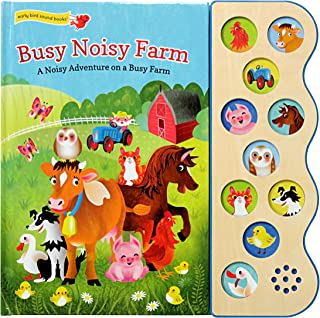Busy Noisy Farm: Interactive Children's Sound Book (10 Button Sound) (Early Bird Sound 10b)