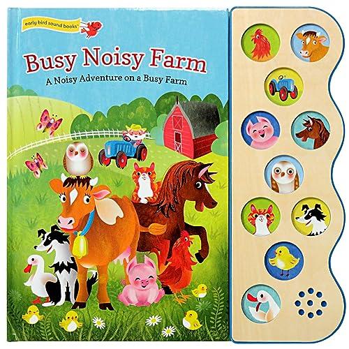 Busy Noisy Farm: Interactive Children's Sound Book (10 Button Sound) (Interactive 10-Button Early Bird Sound Book)